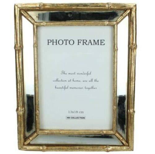 Marco de fotos de resina dorada estilo retro Art Deco estilo retro