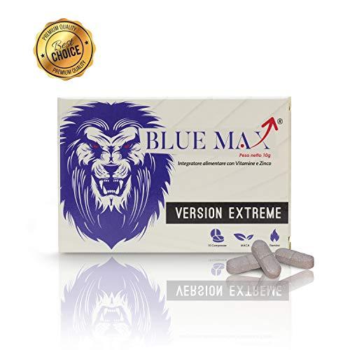 BlueMax® 2Generazione - Integratori Naturali Senza Ricetta - Super Energia E Aumento Concentrazione - Maca Peruviana Di Origine Naturale - Equivalente Originale 10 Pastiglie Gold Uomo Donna!