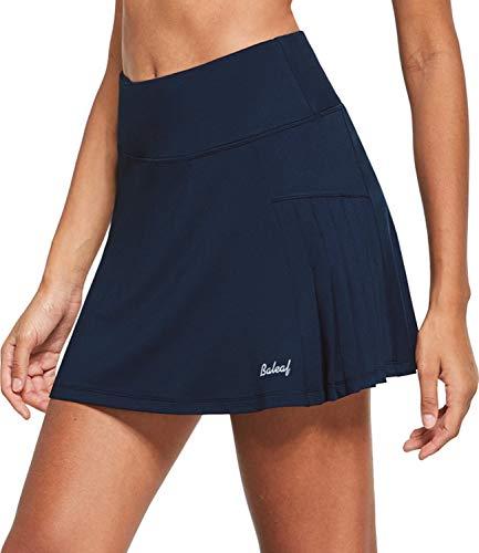 BALEAF Faldas de tenis plisadas atléticas para mujer con pantalones cortos de...