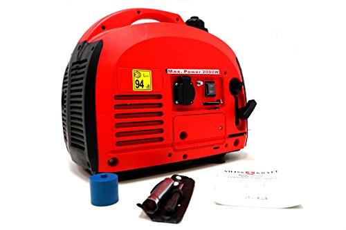 SwissKraft Inverter Stromerzeuger 2.0 KVA Notstromaggregat Stromgeneratot Generator 2000 W