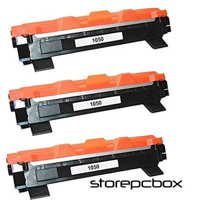 Storepcbox - KIT 3 Toner TN1050 Compatibile con Brother MFC-1910, DCP-1510, DCP-1512, MFC-1810, HL-1110, HL-1112, DCP-1610W, DCP-1612W, HL-1210W, HL-1212W, 1000 PAGINE Colore Nero TN 1050 3 PEZZI
