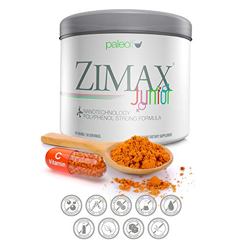 ZIMAX Junior Super ANTIOXIDANT for Kids - 100% Natural with Vitamin c, Magnesium, and Vitamin d3 - High Absorption Curcumin, Rosemary Extract, Grape Seed Extract, Olive Leaf Extract (1)