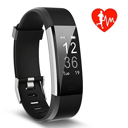 Kungber Fitness Tracker, Monitor della Frequenza Cardiaca e IP67 Impermeabile Orologio Intelligente con Call Promemoria Monitor del Sonno per Smartphone Android iOS, Regali per Bambini, Donna Uomo