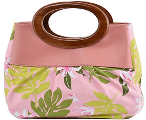 Küstenluder Damen Tasche Nellie Hawaii Blüten Handtasche Rosa