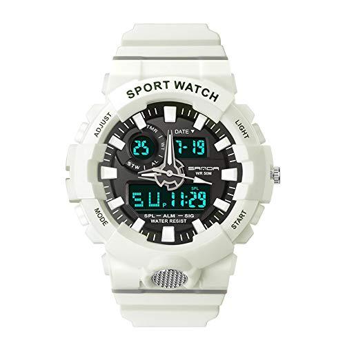 GUOJIAYI Reloj de vibración para hombre con fecha de 12 a 24 horas de visualización móvil reloj de los hombres impermeable de los deportes reloj de los hombres