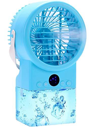 Mobile Klimageräte Kleine Mini-Klimaanlage, 3-in-1-Verdunstungsklimaanlage, persönliche Klimaanlage mit Ventilator für Zuhause, Büro, Außenbereich (Hellblau)