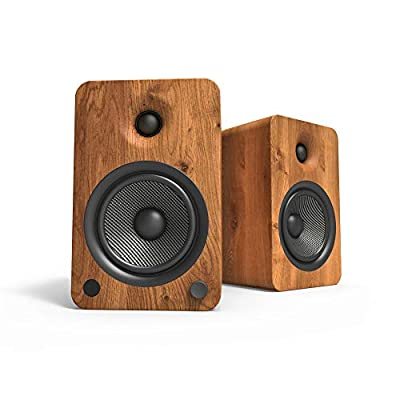 """Kanto YU6 Powered Bookshelf Speakers with Bluetooth® and Phono Preamp, 5.25"""" Kevlar Driver, 200W Peak Power, Gloss White from Kanto"""