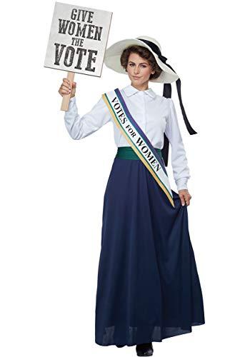 Women's American Suffragette Fancy Dress Costume X-Large
