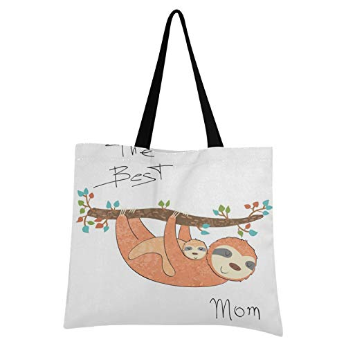 JUMBEAR - Bolsa de lona para bebé, tamaño grande, informal, reutilizable, multiusos, de poliéster, de colores, para compras, para mujeres, niñas,