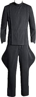 Cosplaysky Men's Halloween Costume Officer Uniform Outfit Grey Version