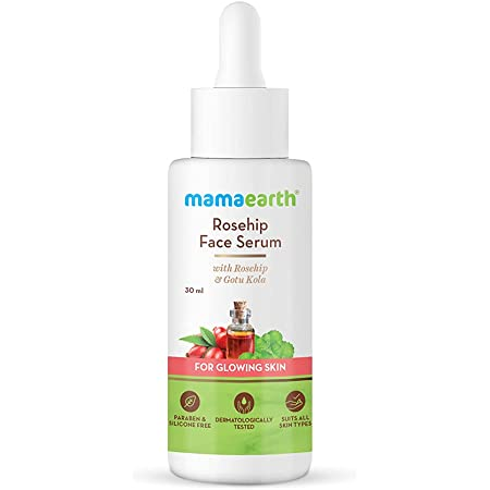 Mamaearth Rosehip Face Serum for Glowing Skin, with Rosehip & Gotu Kola for Glowing Skin - 30 ml