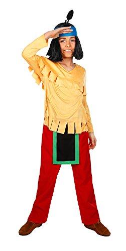 Maskworld - Yakari Kinderkostüm 4teilig - Indianer Kostüm für Jungen - Lizenzprodukt Zeichentrickserie (110/116)