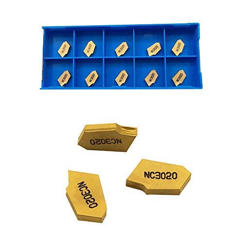 GBJ 10pcs SP200 GTN-2 Grooving Cut-Off Carbide Inserts for SPB26-2 SPB32-2 Blade Grooving Slotting Tool Cut Off Plate Tool