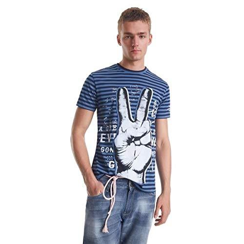Desigual Camiseta Kirk Azul para Hombre.