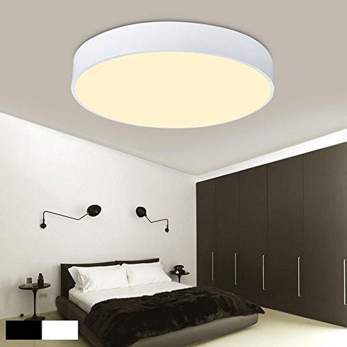 Variateur d'intensité sans fil 48 W ronde LED plafonnier moderne simple style acrylique Matériau Plafonnier Blanc 40 cm pour le salon chambre à coucher salle à manger Suspension