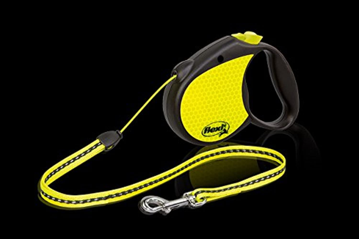 Flexi Retractable Neon Dog Lead, Medium Size Leash, Cord 5m, For a Dog up to