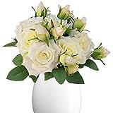 Shyshining 8 pcs Artificial Roses Flowers...