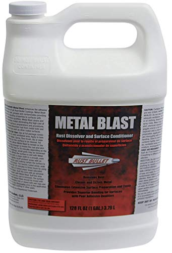 Gallon - Rust Bullet Metal Blast Rust Dissolver, Rust Treatment, Metal Cleaner and Conditioner