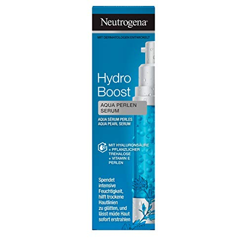 Neutrogena Hydro Boost Aqua Perlen feuchtigkeitsspendendes Gesichtspflege Serum mit Hyaluronsäure, pflanzlicher Trehalose und Vitamin E Perlen (1 x 30 ml)