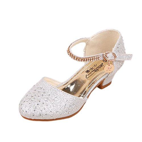 ON Kinder Prinzessin Gelee Partei Absatz-Schuhe Sandalette Stöckelschuhe mit künstliche Diamond