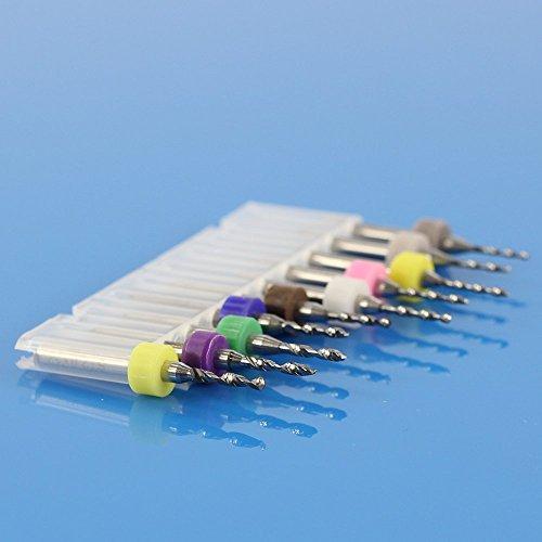 10PC PCB Print Circuit Board Carbide Micro Drill Bits 1.1mm-2.0mm