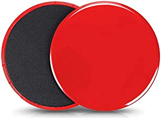 VIQILANY Set of 2 Core Exercise Sliders Dual Sided Gliding Discs-Trainer Fitness Equipment for Abdominal,Total Body Workou...
