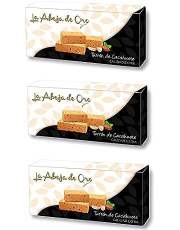 Turrón Blando de Cacahuete - La Abeja de Oro Pack incluye 3 barras de 200gr: Amazon.es: Alimentación y bebidas