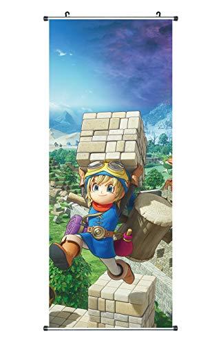 CoolChange Großes Dragon Quest Rollbild | Kakemono aus Stoff | Poster 100x40cm | Motiv: Builders