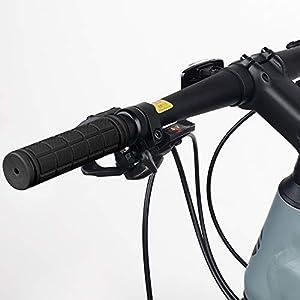 HASAGEI Puños Bicicleta Montaña Silicona Puños Manillar para Accesorios de Bicicleta (Negro)