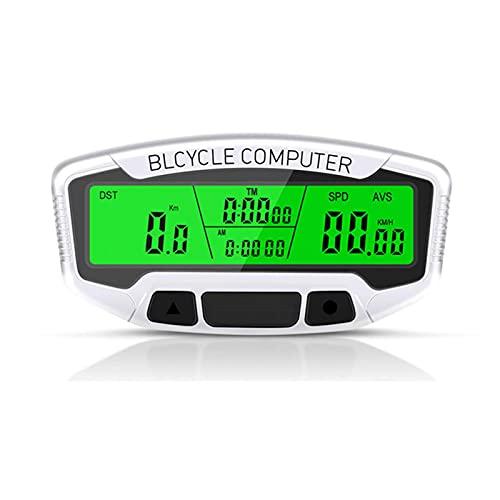 Yongqin Cuentakilómetros para Bicicletas Velocímetro Ordenador para Bicicletas A Prueba De Agua, Pantalla LCD Grande, Pantalla De Velocidad De Conducción, Tiempo Y Kilometraje, Fácil De Inst