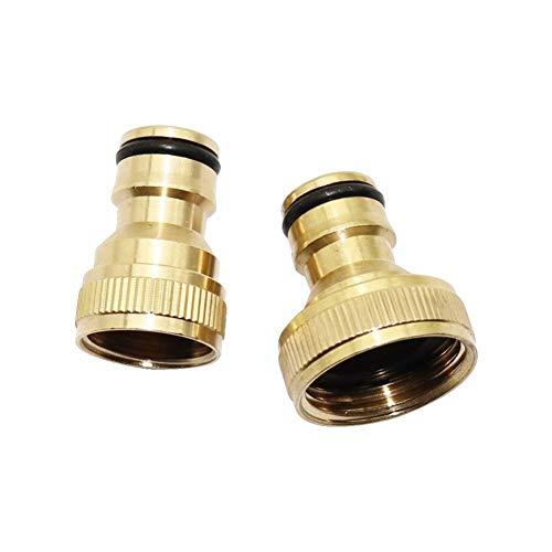Conector de tubo de manguera para el hogar, jardín, herramienta de riego, 10 piezas de 1/2' y 3/4' rosca hembra de cobre, conectores rápidos, accesorios de tubo de lavado de coche (diámetro de 3/4')