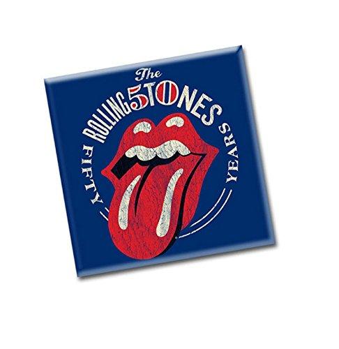 The Rolling Stones Aimant 50th Anniversary Vintage nouveau 76mm x 76mm