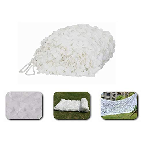 Camo Netting Camouflage Netting White Camouflage Tent 5x6m ,Sunshade Awning Car Net Garden Cover Solar Decoration Canvas Net Balcony Terrace Deck Cover ,More Dimensions (Size : 2 * 3M(6.6 * 9.8ft))