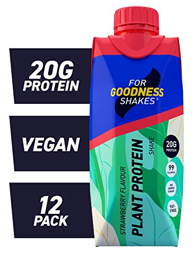 For Goodness Shakes Plant Protein Strawberry, 330ml - Pack of 12