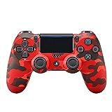 SDSAD Manette sans Fil pour Playstation 4,Camouflage Red