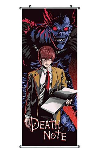CoolChange Großes Death Note Rollbild | Kakemono aus Stoff | Poster 100x40cm | Motiv: Ryuk & Light Yagami