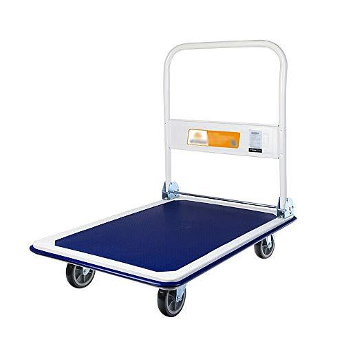 YIN YIN Handwagen - Werksabfertigung Wagen ziehen Warenträger LKW nach Hause Gepäcktasche Anhänger Mute Rad Wagen (Size : 90x60x86cm)