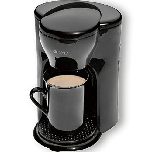 Ekspres do kawy na jeden kubek (jeden osobowy ekspres do kawy łącznie z ceramicznym kubkiem, antypoślizgowa powierzchnia do odkładania, stały filtr nylonowy)