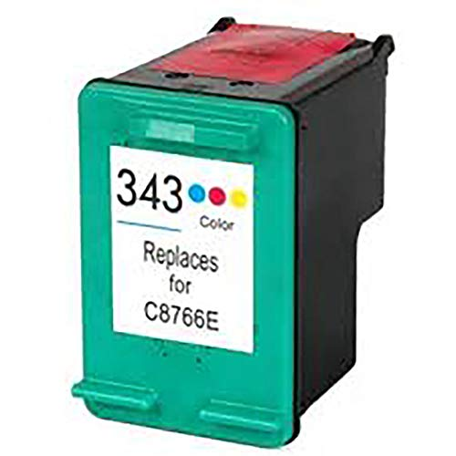 Cartuccia Cartucce Rigenerate 18ml Compatibili HP Desk Jet 460XX 5740 5745 6520 C8766E 343 HP343, Colore: Colore