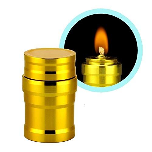 Zhouzl Productos de Camping Mini Botella de Metal lámpara de Alcohol portátil for Acampar al Aire Libre y Laboratorios Productos de Camping