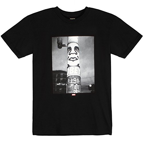 Obey Poster Pole Photo Tee Black L