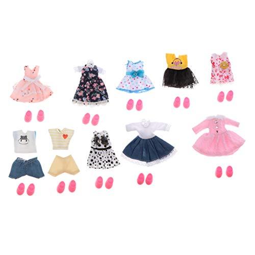 Harilla 10 Set 16cm Girl Puppe Kleidung Schuhe Kit für 1/12 BJD Puppe DIY ACCS