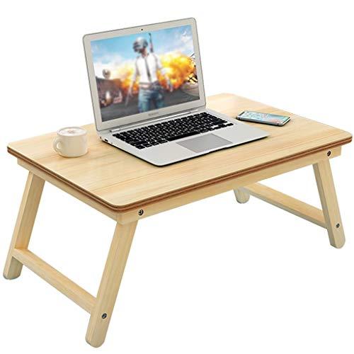 SISIZHANG Bettablage Bettablage mit Beinen Laptop Klapptisch Bett mit Schreibtisch Massivholz Klapptisch Sofa Kleiner Tisch Student Dormitory Study Table (Color : Natural, Size : 60 * 30CM)