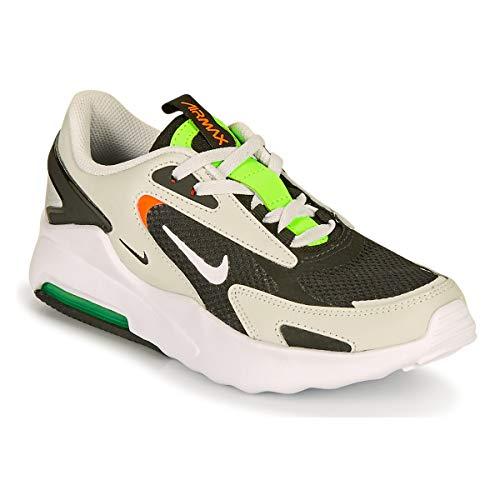 Nike Air MAX Bolt GS Zapatillas Moda Chicos Negro/Gris/Verde - 35 1/2 - Zapatillas Bajas Shoes