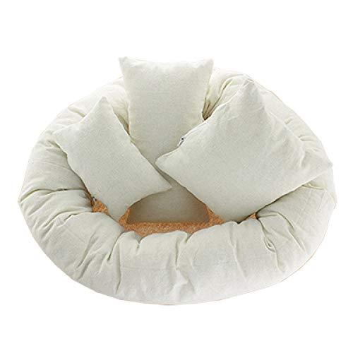 PZNSPY 4 Stks/Set Baby Fotografie Kostuum Tarwe Donut Posing Props Baby Kussens Ring Pasgeboren Fotografie Props Mand Filler Fotografia Pillow Ring