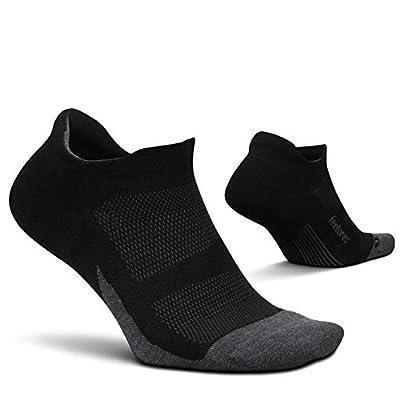 Feetures Elite Max Cushion No Show Tab Sock Block (Medium, Black)
