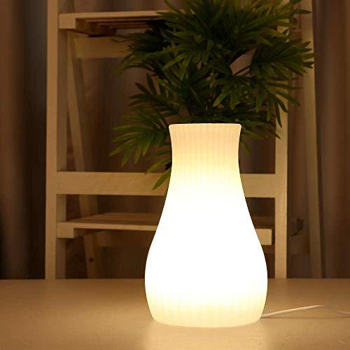 LKAIBIN Lámpara de mesa inteligente recargable LED colorida aplicación WiFi control de luz nocturna con forma de jarrón compatible con lámparas de mesa (color: blanco, tamaño: 10 x 20 cm)