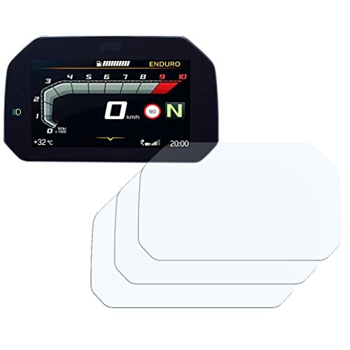 Speedo Angels Dashboard Displayschutzfolie Tachoschutzfolie für R1250 GS (2018+) 3 x Entspiegelt