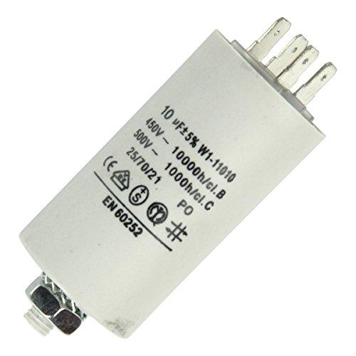 Kondensator 10,0µF, 450V Steck, passend zu Geräten von:Bauknecht Bosch Constr...