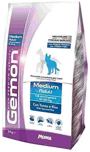 Gemon Medium Adult Tonno 15kg+ Omaggio Brand Nutri (1kg Nutri Riso)